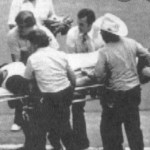 J.R. Richard collapses from a stroke while working out at the Astrodome. He is rushed to Methodist Hospital where surgery saves his life. His distracted teammates lose in Philadelphia, 6-4. Richard would never regain the coordination needed to resume his career.