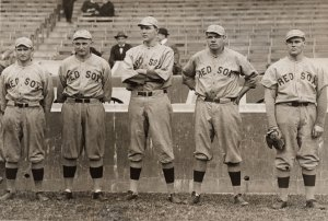 Rube Foster, Carl Mays, Ernie Shore, Babe Ruth, and Dutch Leonard