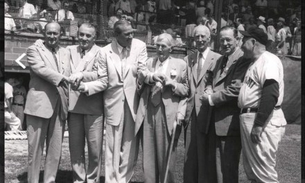 Ty Cobb, Al Simmons, Dizzy Dean, Cy Young. Connie Mack, Big Ed Walsh, and Rogers Hornsby