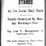 Fire at League Park - 1900