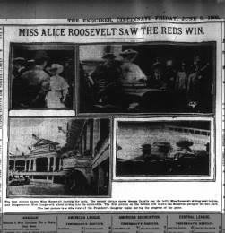 Alice Roosevelt attends Reds game meets future husband