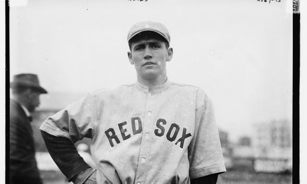 At Fenway Park, the Red Sox sweep two from the Highlanders, winning 13 – 6 and 6 – 0. Smoky Joe Wood wins the nitecap, his second shutout in a row, allowing just one hit, in winning 6 – 0 in seven innings. Dutch Sterrett's single is the lone hit. In the nitecap, Hick Cady makes two hits in one at bat. His single scores Jake Stahl from third base, but umpire Silk O'Loughlin rules that Stahl was balked home. In Cady's second chance, he doubles.