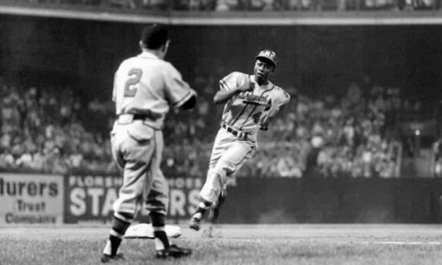 Hank Aaron homerun puts Braves 23 games over 500