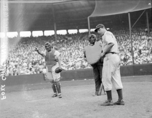 Foxx and DiMaggio at Fenway Park
