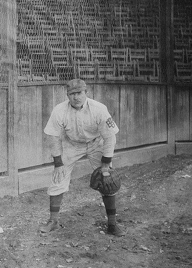Paddy O'Connor at spring training in Hot Springs, Arkansas – 1910.