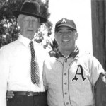 Connie Mack and Happy Chandler at Spring Training in West Palm Beach, Florida - 1948.