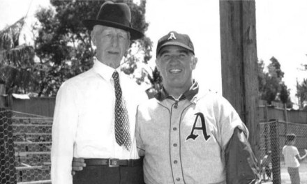 Connie Mack and Happy Chandler at Spring Training in West Palm Beach, Florida – 1948.