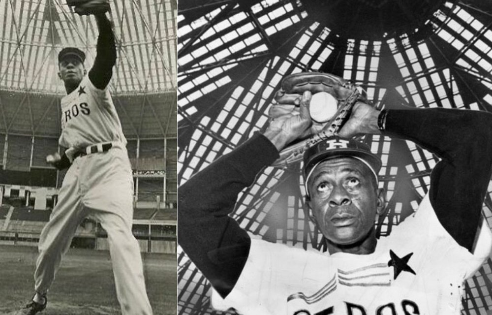 Satchel Paige visits the Astrodome
