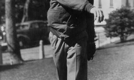 Leo Durocher at spring training in Hot Springs, Arkansas – 1939.