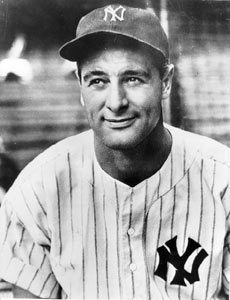 Lou Gehrig, who hit .354 with 49 home runs, 167 runs, and 152 RBI, is voted American League MVP.