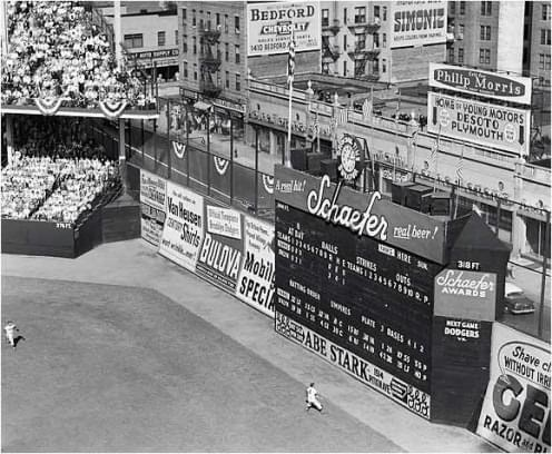 The sale of the historical, but out-of-date, Ebbets Field to real estate developer Marvin Kratter becomes one of the first indications the ballpark is nearing its end, and, perhaps, a harbinger of the Dodgers' departure from Brooklyn. As part of the deal, club owner Walter O'Malley is given a three-year lease, with an additional two years to be added in January, to stay and play at the Flatbush facility, which means the 'Bums' have a potential home in the borough until 1961.