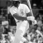 Chicago's Dick Allen becomes the 4th major league player to hit one into the CF bleachers in Comiskey Park