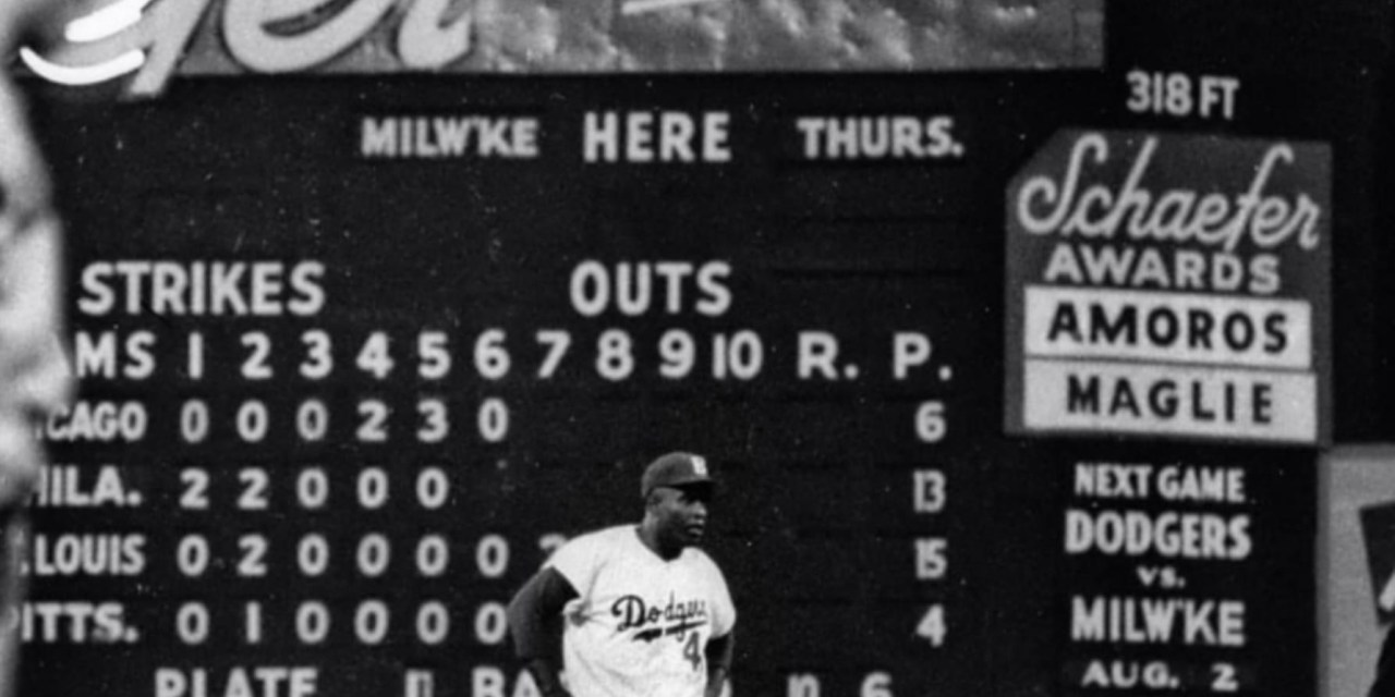 Jackie Robinson Safe at second