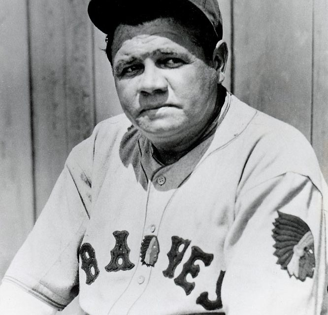 Collegiate southpaw Olney Ray Freeman strikes out a 40 year-old Babe Ruth on a two-strike curveball a feat the lefty would brag about until his death in 2008