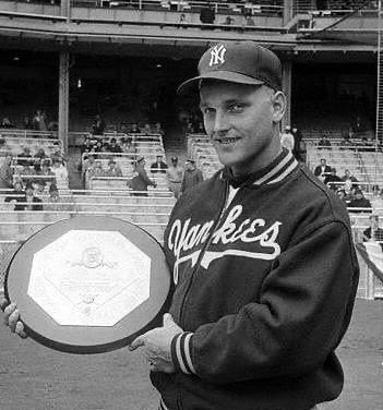 The second closest MVP vote ever, Roger Maris narrowly defeats teammate Mickey Mantle, by three votes, 225-222.