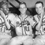 Hank Aaron , Warren Spahn  and Eddie Mathews