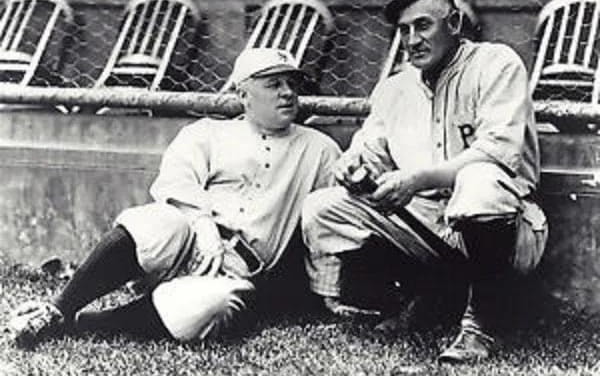 John McGraw and Honus Wagner
