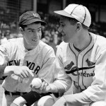 Joe DiMaggio and Dizzy Dean at the 1936 All Star game, July 7, 1936.