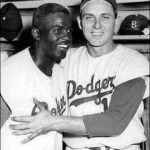 Gil Hodges and Jackie Robinson