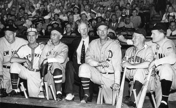 Old Timers game at Shibe Park Features several Hall of Famers