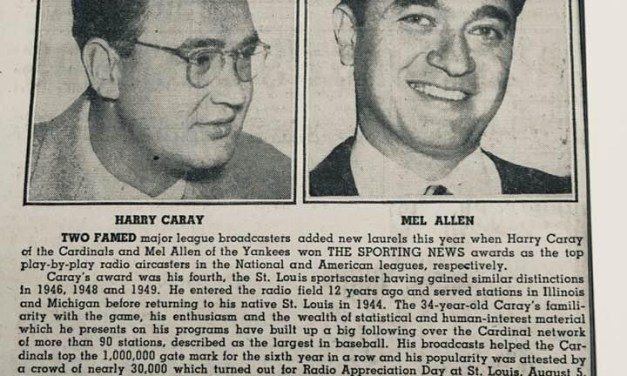 Harry Caray and Mel Allen named top play by play men