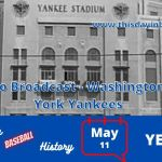 Washington Senators at New york Yankees Full Radio Broadcast