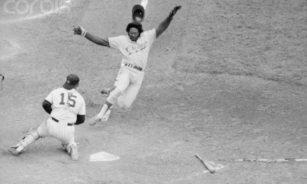 MVP Dick Allen breaks his leg after he collides with Mike Epstein