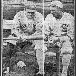 Babe Ruth and Joe Jackson before the game