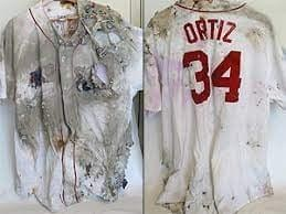 The David Ortiz jersey, which was secretly buried in cement at the new Yankee Stadium Is auctioned off