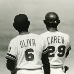 Rod Carew and Tony Oliva complete two double steals on two consecutive pitches