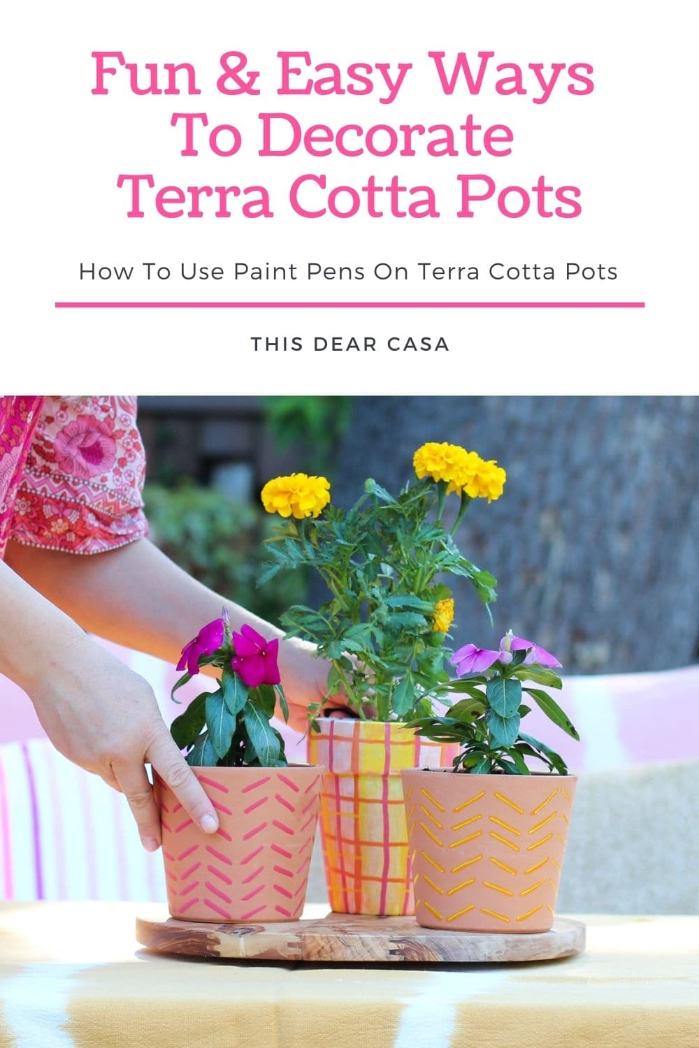 How To Use Paint Pens On Terra Cotta Pots