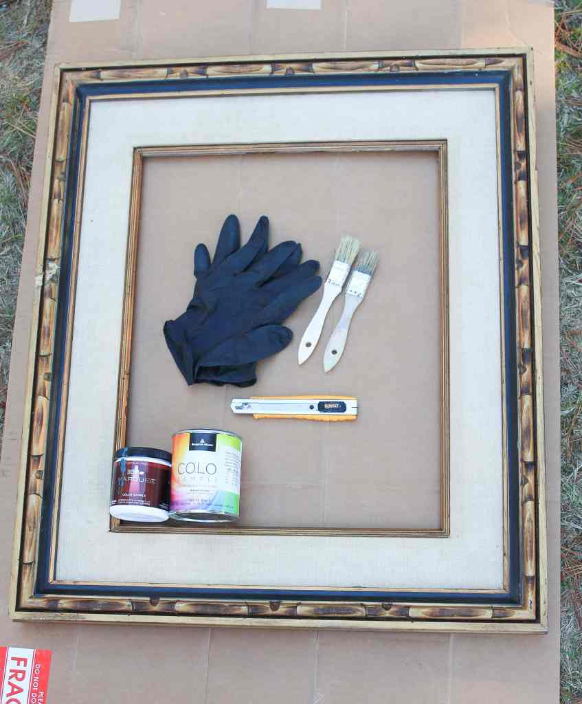 Materials for cardboard canvas art.