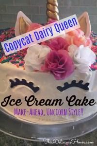Dairy Queen Unicorn Ice Cream Cake This Delicious House