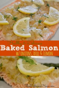 Baked Salmon with Onion, Dill and Lemon