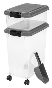 airtight dog food container / keep dogs busy while at work