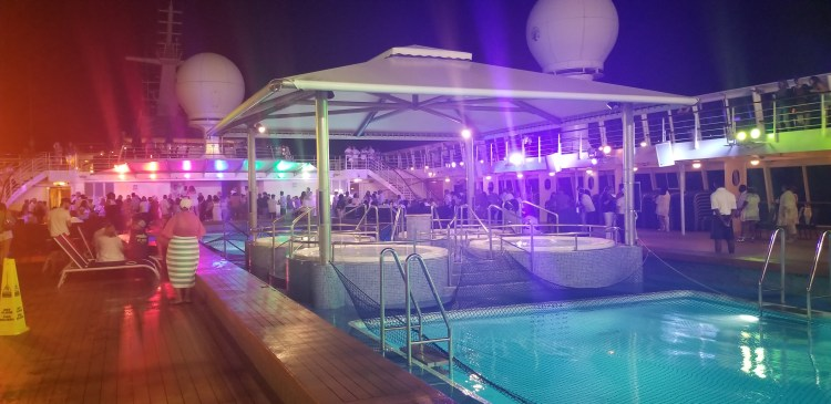 The all-white deck party on the Norwegian Sun