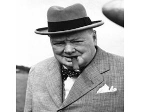 Winston Churchill and cigar