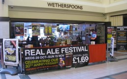 wetherspoons and real ale
