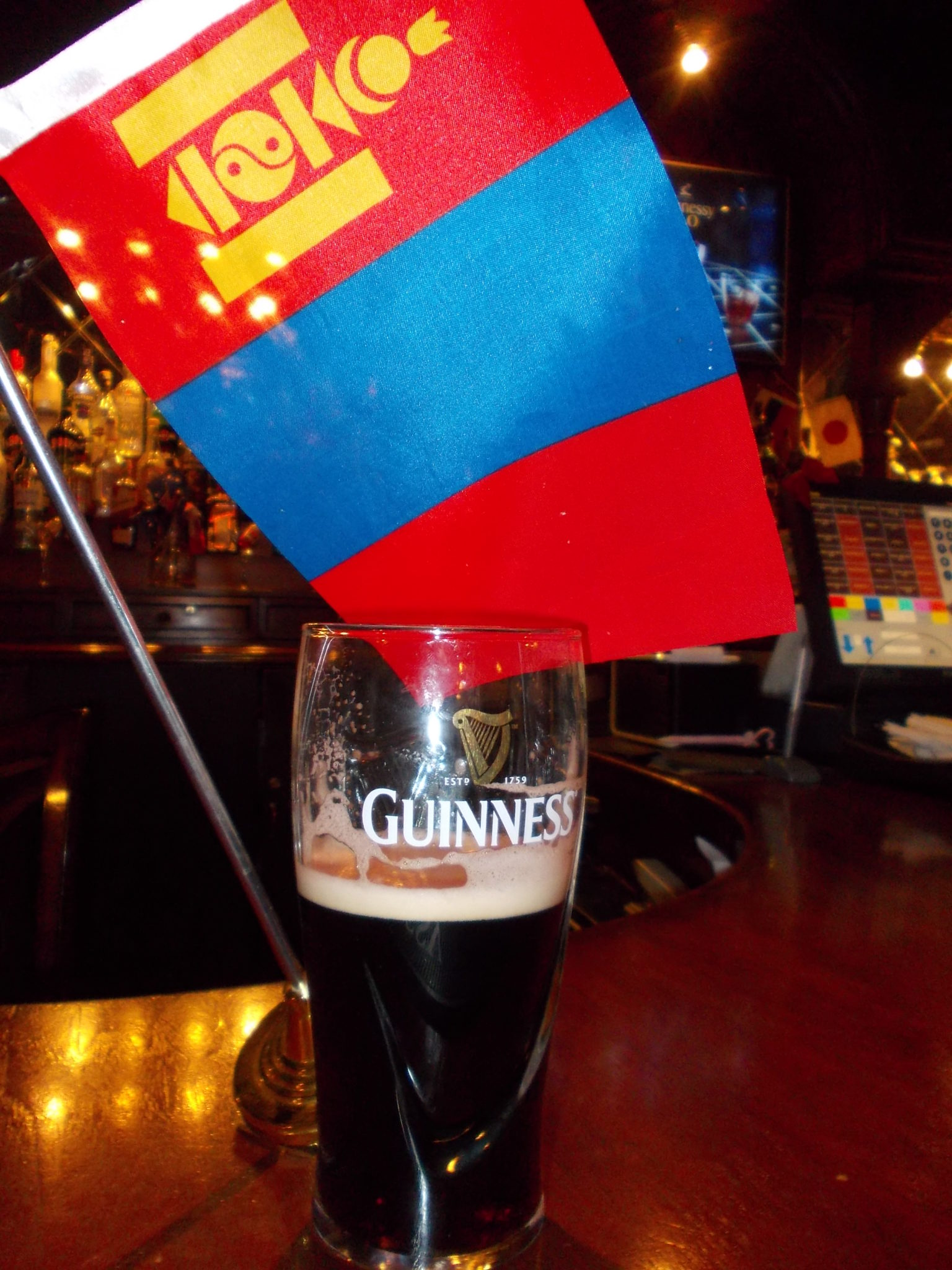 Mongolia and Irish bars