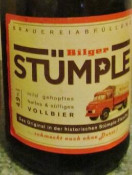 """""""Schmeckt auch ohne Durst!"""", Bilger Stumple"""