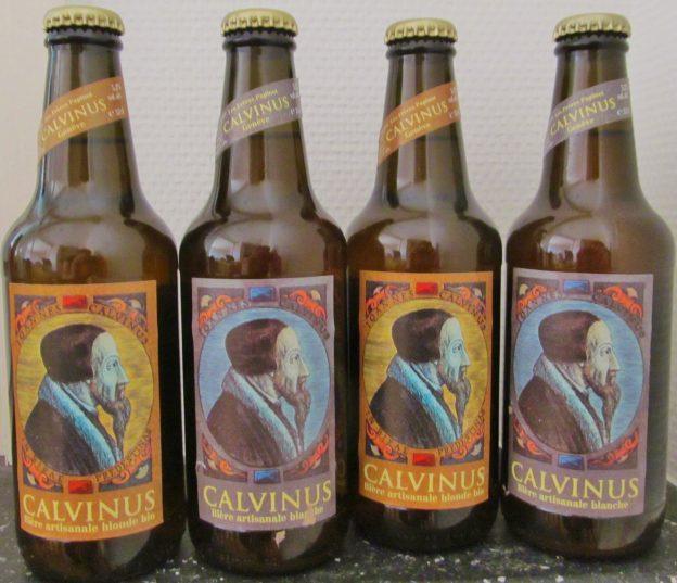 Les Frères Papinot, Calvinus Blanche Beer, whitbier, Calvinus Blonde (organic) Beer, John Calvin, Geneva