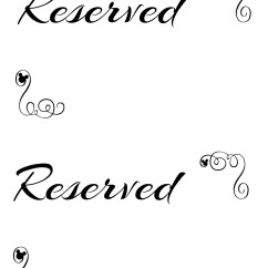 Reserved Signs For Chairs Template Folding Garden Aldi Free Printable Seating Your Wedding Ceremony