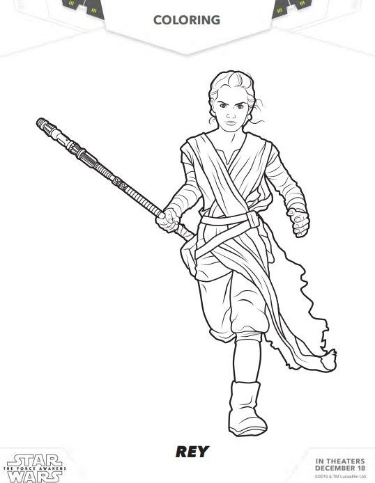 STAR WARS: THE FORCE AWAKENS Coloring Pages and Activity