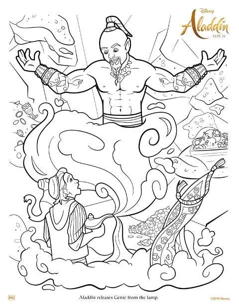 free aladdin printable coloring