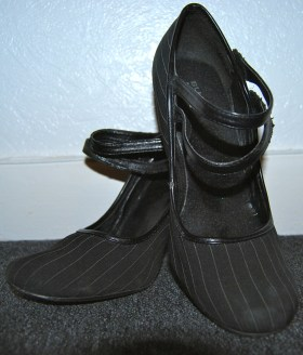 pinstripe shoes