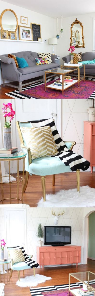 Classy clutter-free. Image by http://www.classyclutter.net/2014/11/living-room-refresh-with-jewel-tones/