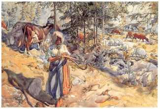 cowgirl-in-the-meadow-1906(1) Carl Larsson