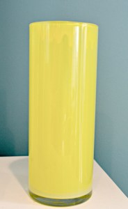 Allow excess paint to drip out of the vase onto a paper plate. Wipe rim clean, and allow to dry
