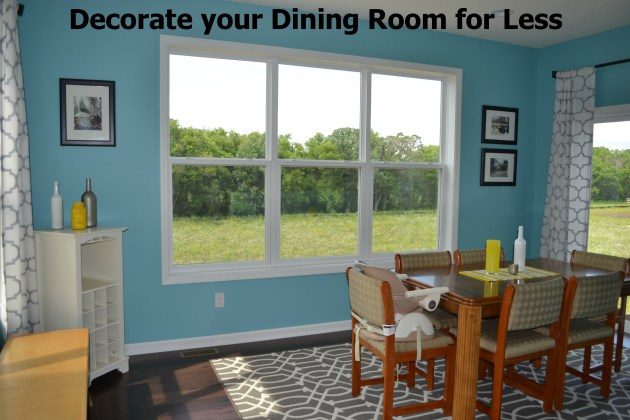 Decorate your dining room for less