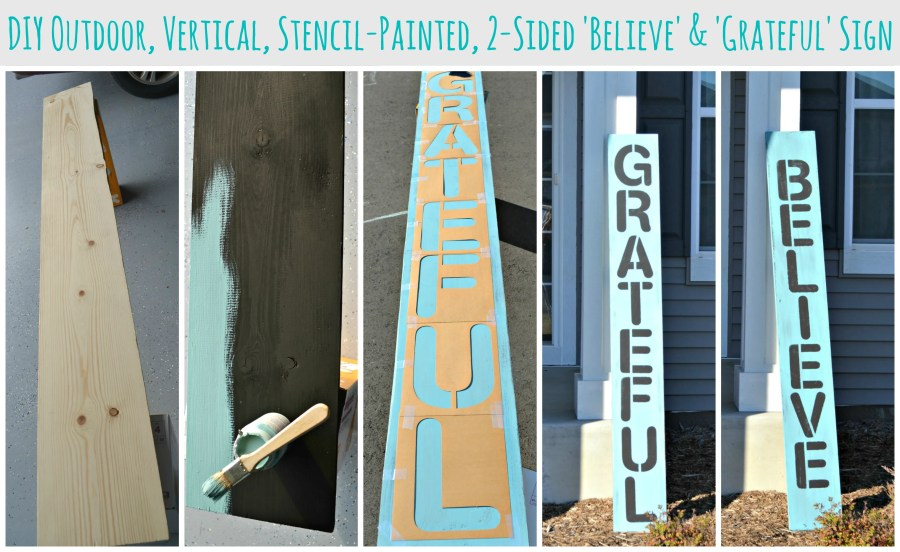 DIY Outdoor Vertical Sign Collage